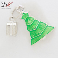 Wholesale 2014 New Arrival Fashion Jewelry Green Christmas Tree Charms
