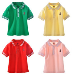 Wholesale Danrol Brand Baby Shirts Toddler Polos Tops Short Sleeve Summer Classic Tee Shirt Outfits Top Quality