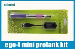 Ego t Mini Protank Blister Kit 650mah 900mah 1100mah Ego-t Battery Mini protank vaporizer pen Colorful Ecig starter kit Blister Kits KZ005