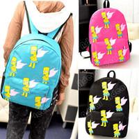 Wholesale New Kids Cartoon Canvas Backpack School Bag Rucksack Leisure Shoulder Bag SV008397