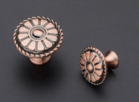 Wholesale Classical Style Antique Copperl Furniture Fitting Shoe Cabinet Door Knob Drawer Handle L MM H MM