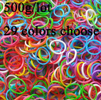 rubber band rainbow loom - Fashion colorful loom bands Wrist kit bracelet new DIY Rainbow loom band Halloween Children Christmas gift toys Rubber band