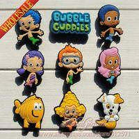 Wholesale 2014 New Arrival Bubble Guppies shoe decoration shoe charms shoe accessories for clogs Popular Cartoon Kids gift