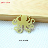 Wholesale Yellow Octopus Eco Friendly Acrylic Brooch Laser Cut Jewelry Art Project AC1004A