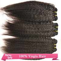 Wholesale Kinky Straight European Hair Wefts Coarse Yaki Human Hair Extentions For Sale None Frizzly Grade A Virgin Hair Weaves Fast Delivery