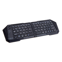 Wholesale Wireless Bluetooth Folding Keyboard with Stand For iOS Android Windows Laptop Computer wxq277