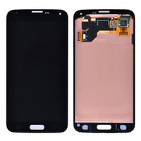 Wholesale Original New Black LCD Complete With Digitizer Touch Display Screen For Samsung Galaxy S5 SV I9600 LCD Replacement Free By DHL EMS