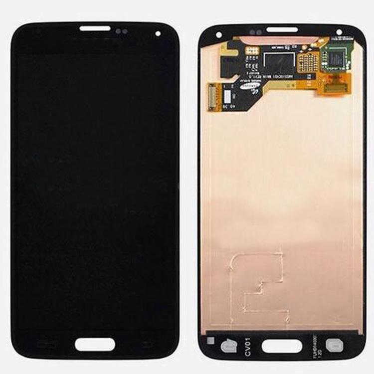 Buy S5 LCD Screen Assembly Samsung Galaxy s5 i9600 Display Touch Digitizer white Black Chinapost Fre