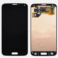 Wholesale S5 LCD Screen LCD Assembly For Samsung Galaxy s5 i9600 LCD Display Screen With Touch Screen Digitizer Assembly white and Black Chinapost Fre