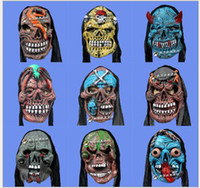 Wholesale DHL EMS FEDEX ARMAE Free Ghost Monster Mask Latex Cosplay Halloween Horror Party Masquerade Ball Costume Masks Adult Child styles K1367