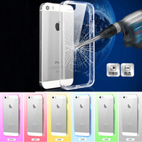 acrylic plastic material - Soft Transparent Clear TPU Full Clear Acrylic Material Case Cover Skin for iPhone S With Dust Plug MOQ