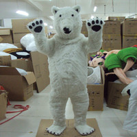 bear mascot suit - White Polar Bear Mascot Costume Party Clothing Fancy Dress Panda Clothes Cartoon Character Bear Suit