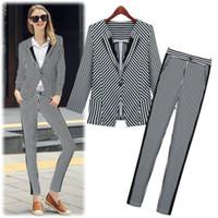 Wholesale Details about Fashion Women One Button Slim Office lady Blazer Pants Suit Jacket Coat Outwear