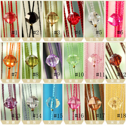 Wholesale Home Cutains Acrylic bead curtain New Drop Beaded String Door Window Curtain Divider Room Blind Tassel Fly Screen