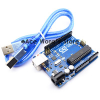 Wholesale Freeshipping Arduino UNO R3 development board MEGA328P ATMEGA16U2 USB cable