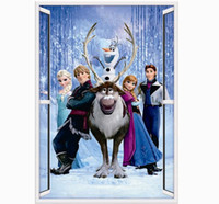Wholesale Cartoon Sticker Frozen Movie Wall Stickers D Wall Decals Art Of Frozen ZooYoo1419 nursery children s room removable stickers
