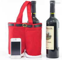 Wholesale Santa pants style Christmas candy gift bag Xmas Bag Gift cotton material