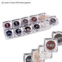 tattoo ink sets - High Quality Colors Set PCD Eyebrow Lip Permanent Makeup Pigment Tattoo Ink Tattoo Supplies