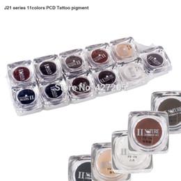 PCD Permanente labio de la ceja del pigmento del maquillaje microblading tinta del tatuaje El tatuaje de alimentación de alta calidad 11 colores / Set