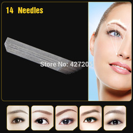 Wholesale JM611D X5 Professional Permanent Makeup Manual Eyebrow Tattoo Curved Blade with Needles