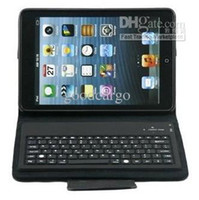 Wholesale in1 Bluetooth Wireless Keyboard Flip PU Leathter Case Cover For quot ipad Mini Folio Stand Holder Colourful