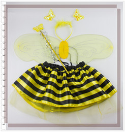Wholesale Cartoon LADYBIRD Costume SKIRT wings headband wand Cute ladybird costume Cosplay costumes Christmas Performance Costumes LJJD82