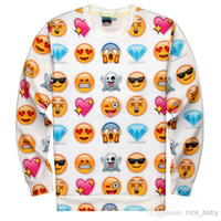 Wholesale 2014 Brand Fashion NEW Shelfies Emoji Madness Galaxy Sweatshirts Hoodies Phone Emoticons D Print Long Sleeve Shirt Men Women