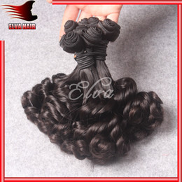 Wholesale Double Drawn Funmi Hair A Aunty Funmi Hair Romance Curls Virgin Peruvian Natural Color Human Hair Extension Bouncy Curl Egg Curl Stock