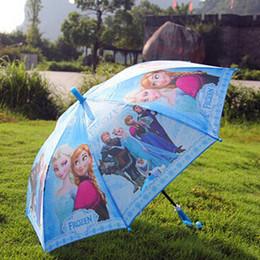 Wholesale Frozen Umbrella Frozen Princess Elsa Anna Children Umbrella cm Frozen Series color styles as pic Via DHL
