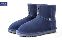 Wholesale 2014 winter new female models snow boots ladies fashion casual genuine leather winter boots