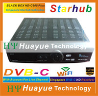 Wholesale BLACK BOX HD C608 plus Singapore digital cable box support wifi N3 EPL HD channels Singapore Starhub box