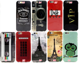 Wholesale Owl Stereo Radio Camera Beer Duff VIP Skull Eiffel Tower USA UK flag TPU Silicone soft Case For iphone Plus quot G inch Skin Cover
