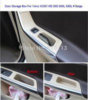 Pocket Holder beige car interior - Car Front Back Door Armrest Storage Stowing Car Interior Tidying Mini Box Car Organizer For Volvo XC60 Beige Black