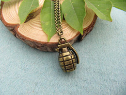 Wholesale Stereo grenade Necklace charm necklace with chain vintage style steampunk jewelry antique gift