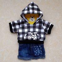 Wholesale Original hanger build a bear duffy bear clothes skull sweatshirt set