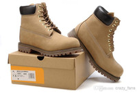 Wholesale Top Quality Winter Outdoor Sports Shoes Snow Boots Hiking Shoes Martin Boots Land Men Leathers Hiking Boots Size Wiht Box Combat Boot