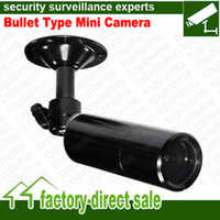 Wholesale DC12V Small metal housing Bullet Type Mini Size CCTV Camera SONY CCD TVL mm Lens Optional