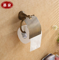 Wholesale antique brass toilet seat paper holder