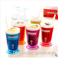 Wholesale ZOKU iCe Cream cup Machine Sand ice Cup Smoothie Cup Home made ice cream tools factory price