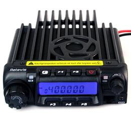 Wholesale Mobile Car Ham Radio Transceiver VHF UHF MHz220 MHz400 MHz W CH CTCSS DCS Groups VOX Scan Retivis RT D A9100