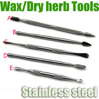 Wholesale Wax Dabber Tools Stainless Steel Titanium Dab Nail Tool Dry Herb Hemp Oil thick Waxy Atomizer Vaporizer e Cigarette starter herbal vapor Kit