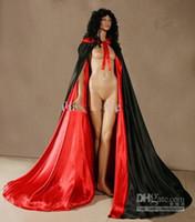 Wholesale New Spell color Satin Cape Cloak Bridal Coats Medieval Renaissance Wedding Costume Custom Any colour