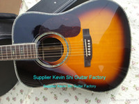 Wholesale 2015 NEW Factory Sunburst Chartin electric acoustic guitar Replica D35 VS acoustic guitar Sitka top rosewood body have official logo