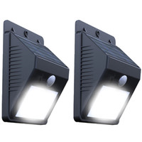 Wholesale Solar Powered Water proof outdoor lamp PIR motionsensor and ray sensor LED street light