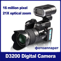 Wholesale D3200 digital camera million pixel camera Professional SLR camera X optical zoom HD camera plus LED headlamps