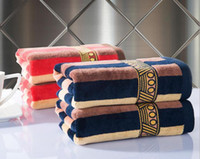 hand towels - luxurious Egyptian cotton towel striped textile gift towels hand face hair cloth red blue man towels cm