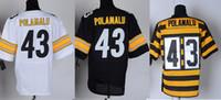 Wholesale 43 Polamalu Jersey Elite Football Steelers Jerseys Best quality Authentic Jersey Size M L XL XXL XXXL Accept Mix Order