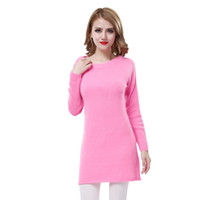 Pullover 100 cashmere sweater - 100 Cashmere Women Girl Candy Color Sweater Dress tm12 Casual Long Sleeve Warm Autumn Winter Brand Quality Pullovers Via fedex dhl ems