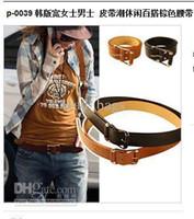 Wholesale Belt South Korea Wide Man Belt Tide Leisure Joker Brown P