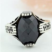 Cheap Daihe RN4015 wholesale fashion jewelry black stone ring for men